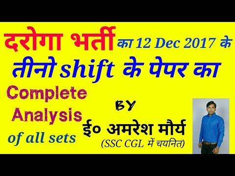 UPSI 12 Dec 2017 Exam Full Analysis Of 1st,2nd and 3rd Shift