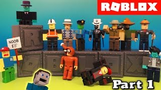 Roblox Series 1 Blind Box Action Figures Case Unboxing PART 1 Deluxe Jazwares