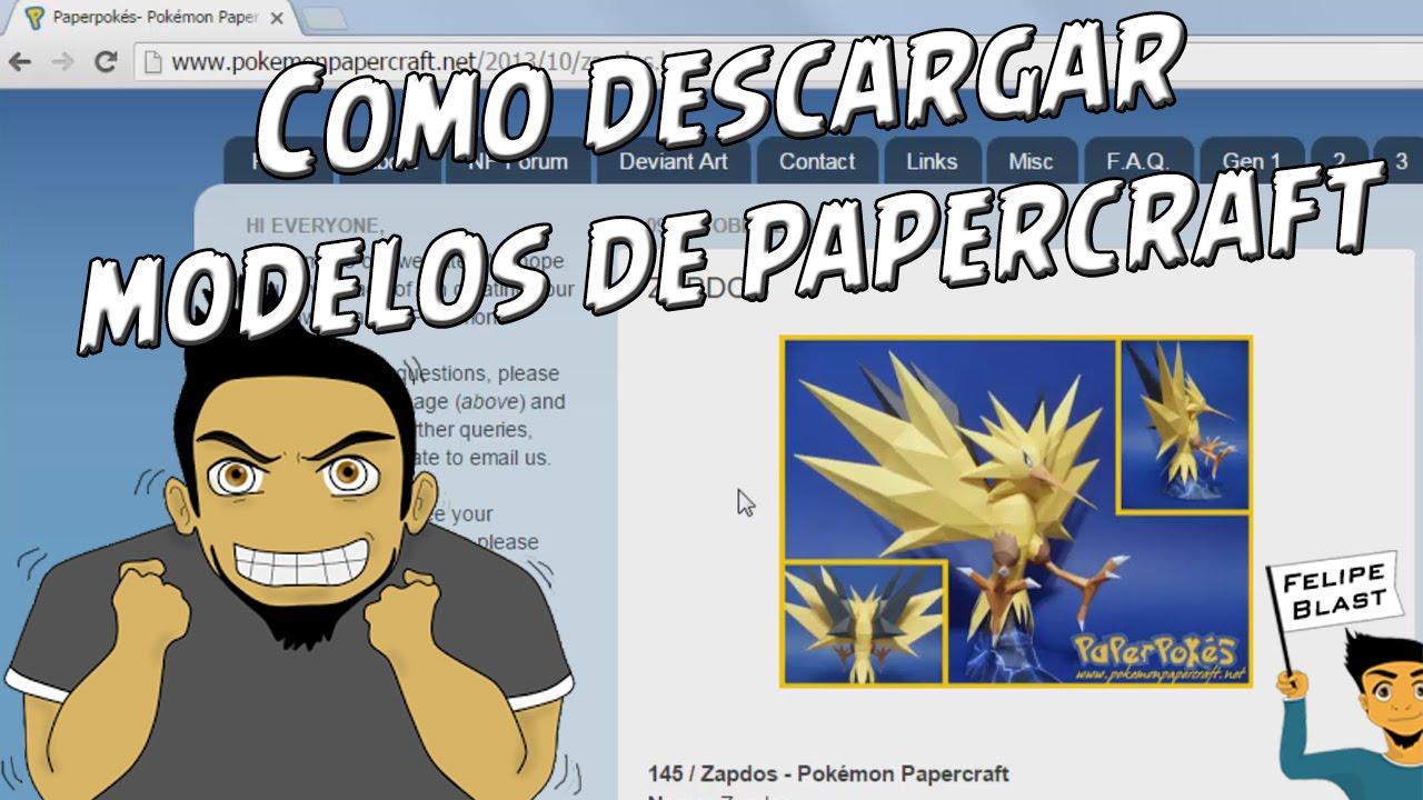 Papercraft Tutorial #11: Como descargar rapidamente modelos de Papercraft desde internet