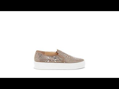 e522abdaa41 Vince Camuto Kindra Leather Studded Platform Sneaker - YouTube