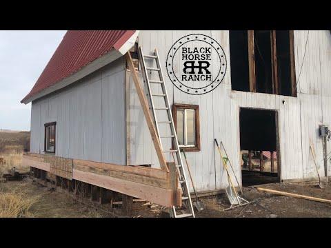 Historic Guest Barn Renovation - Episode 2  Grade, Cribbing and Lifting Trusses