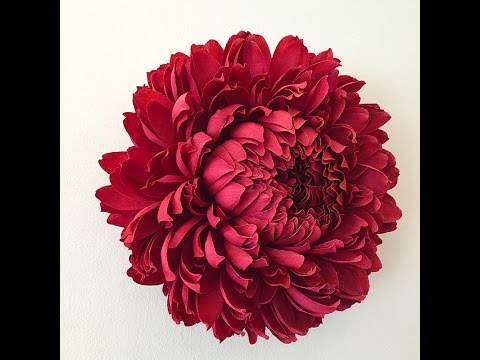 how to make big tissue paper flowers rose tutorial