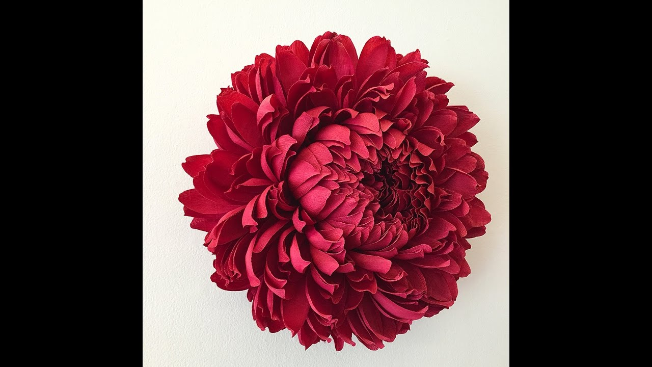 How To Make Big Tissue Paper Flowers Rose Tutorial Youtube