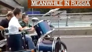 Play Drums On Highway Like A Boss