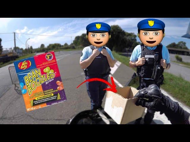 PIEGER LA POLICE AVEC BONBONS DEGUEULASSE👮♂️🍬🤢 (Edition Spéciale) #DÉFI