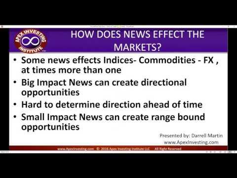 Monday Nadex Webinars 08/01/2016  How to Trade News Events