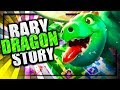 The Baby Dragon's Origin Story - Inferno Dragon's Brother | Clash of Clans meets Clash Royale Story