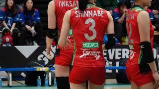 新鍋選手の赤と青のユニフォームを比べてみました 【女子バレー】Hisamitsu