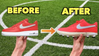 Turning ICONIC Shoes into Football Boots and then Testing them!