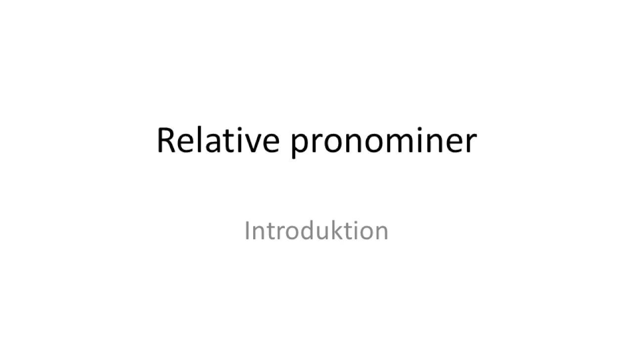 Relative pronominer på tysk
