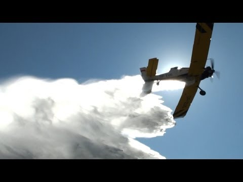 M-18 Dromader Water Drops & Low Passes Close-Up 【HD】