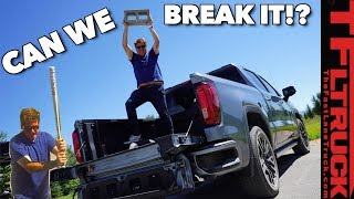 Watch Us Beat the Crap Out Of the New 2020 GMC Sierra CarbonPro Bed!