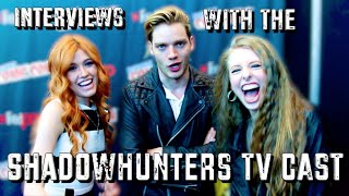 INTERVIEWING THE SHADOWHUNTERS TV CAST