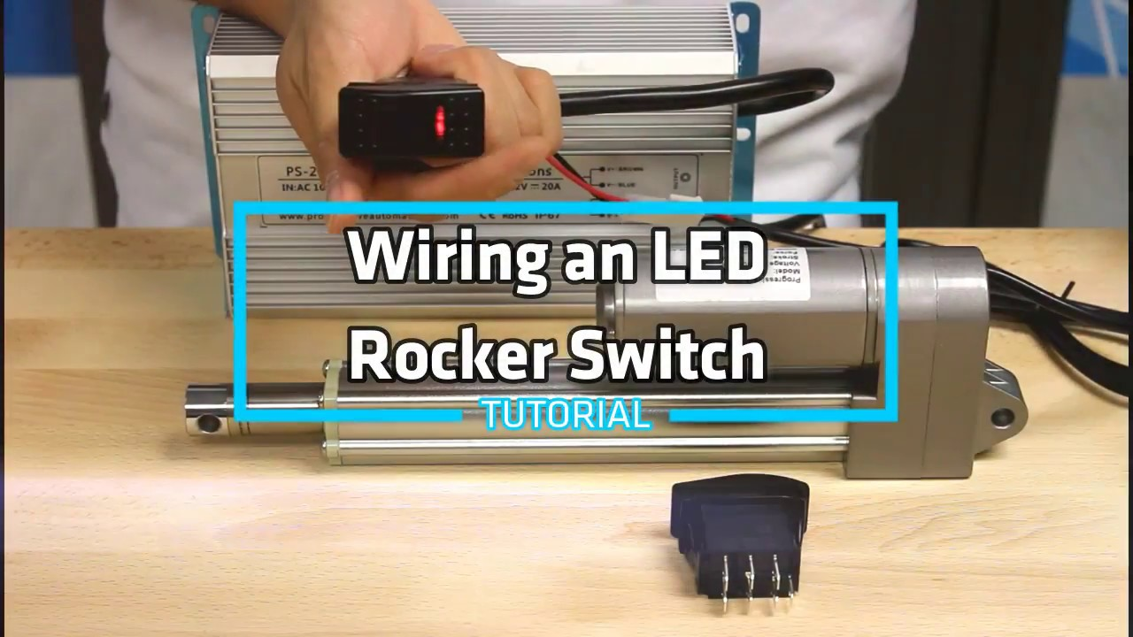 HowTo Wire an LED Rocker Switch  YouTube
