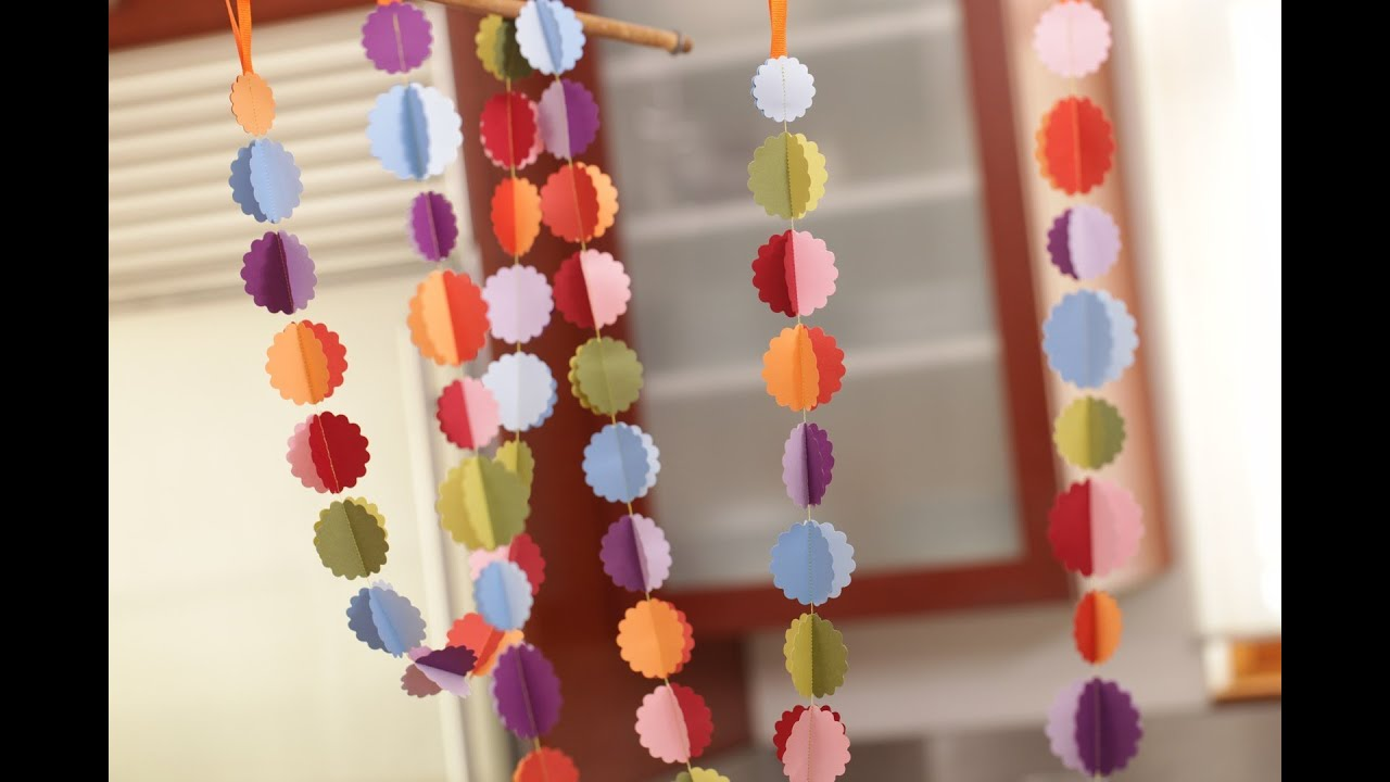 Diy Sewn Paper Garland Youtube