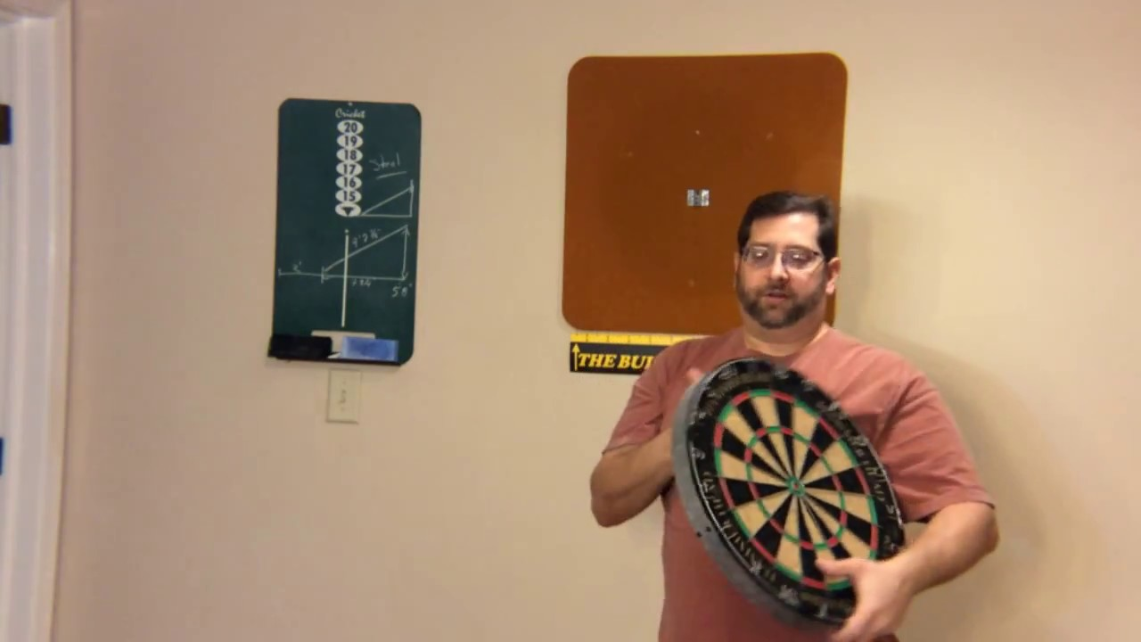 How To Setup A Dart Board With Measurements Youtube