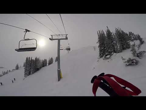Standish Express Quad Chair - Banff Sunshine Village - Interactive Skiing