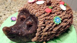 Детский торт  ЁЖИК НА ПОЛЯНКЕ. Сюрприз для ребенка.