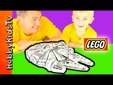 Lego Star Wars Millennium Falcon Review Set 75105 HobbyKidsTV