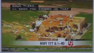 Deadly Tornado in Oklahoma - damage & destruction near Shawnee May 2013