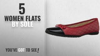 Top 5 Sole Women Flats [2018]: French Sole FS/NY Women's Passportr Ballet Flat,Black/Red,8.5 M US