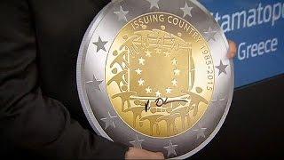 Греческий гравер создал макет юбилейной монеты в два евро(Несмотря на возможный выход Греции из зоны евро, именно греческий проект юбилейной монеты в два евро, приур..., 2015-05-28T21:17:01.000Z)