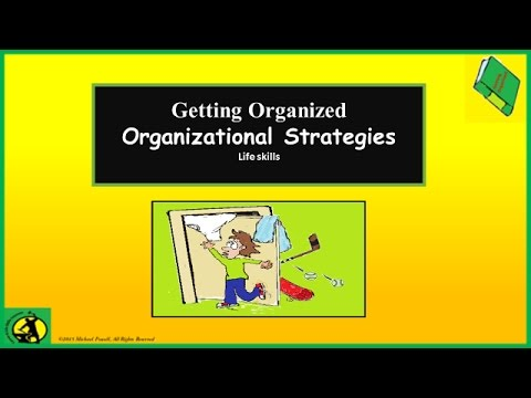 Organizational Strategies, Organization Tips, Lesson for Students