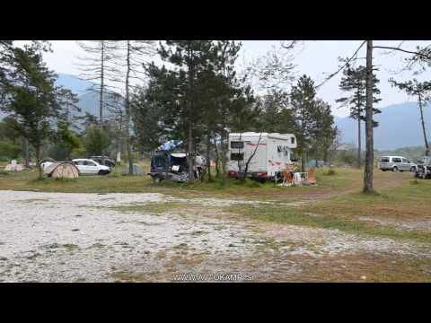 Camp Gabrje - Tolmin - river Soca - camping Slovenia