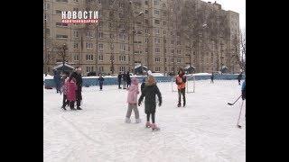 В ТОС «Ельниковский» состоялось открытие хоккейной коробки