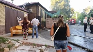 На Анголенко при пожаре пострадал мужчина