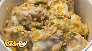 경주 중앙시장 야시장 길거리 음식 / 크림닭강정(Korean Fried Chicken with Cream Sauce) / Korean Street Food
