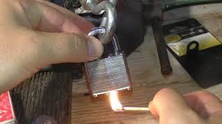 Jak otworzyć kłódkę zapałkami - konstrukcja firmy Smith And Locke. Matches vs Padlock.