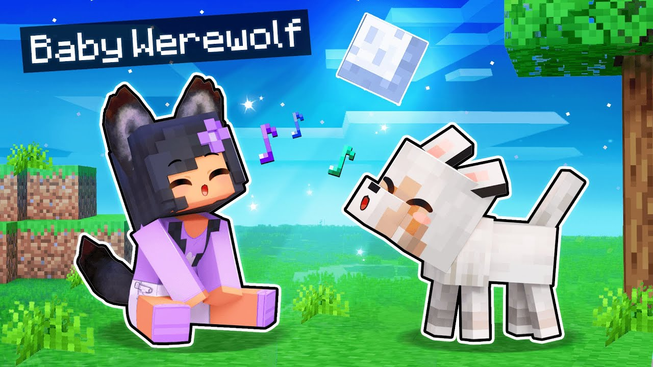 Download Playing Minecraft As A BABY WEREWOLF!