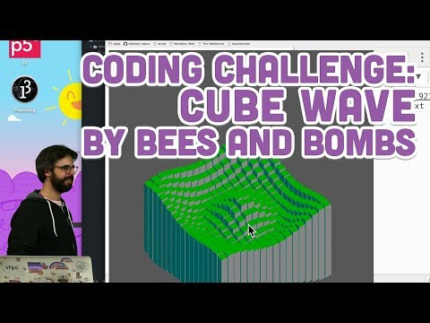 Coding Challenge #86: Cube Wave by Bees and Bombs