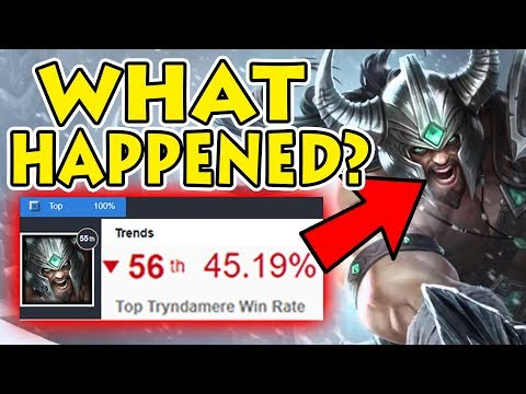 MY SOLUTION TO THIS PROBLEM: Tryndamere Currently at 45% Winrate