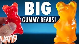 Big Gummy Bears are 18 times larger than regular gummi bears