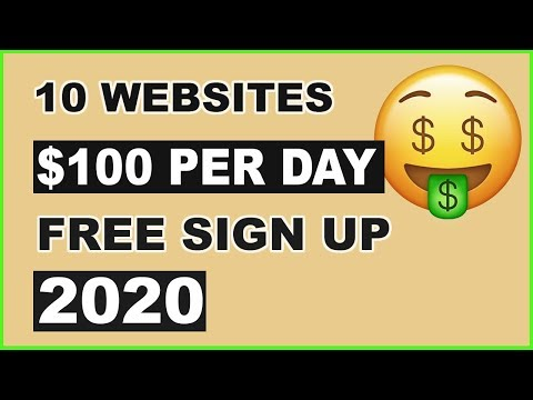 🤑10 Websites to Make $100 PER DAY | 2020