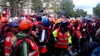 [14/06/2016] Les dockers à la manifestation de Paris