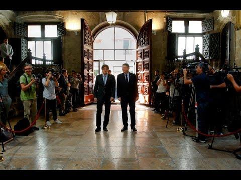 Reunió de Ximo Puig y Carles Puigdemont