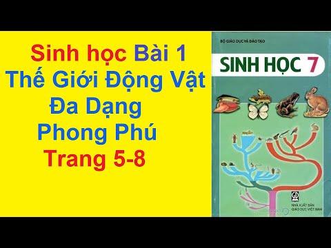 Sinh Học Lớp 7 Bài 1 – Thế Giới Động Vật Đa Dạng Phong Phú – Trang 5 – 8