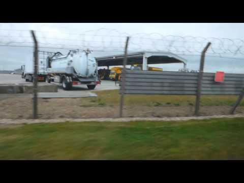 Scania bendy bus Heathrow