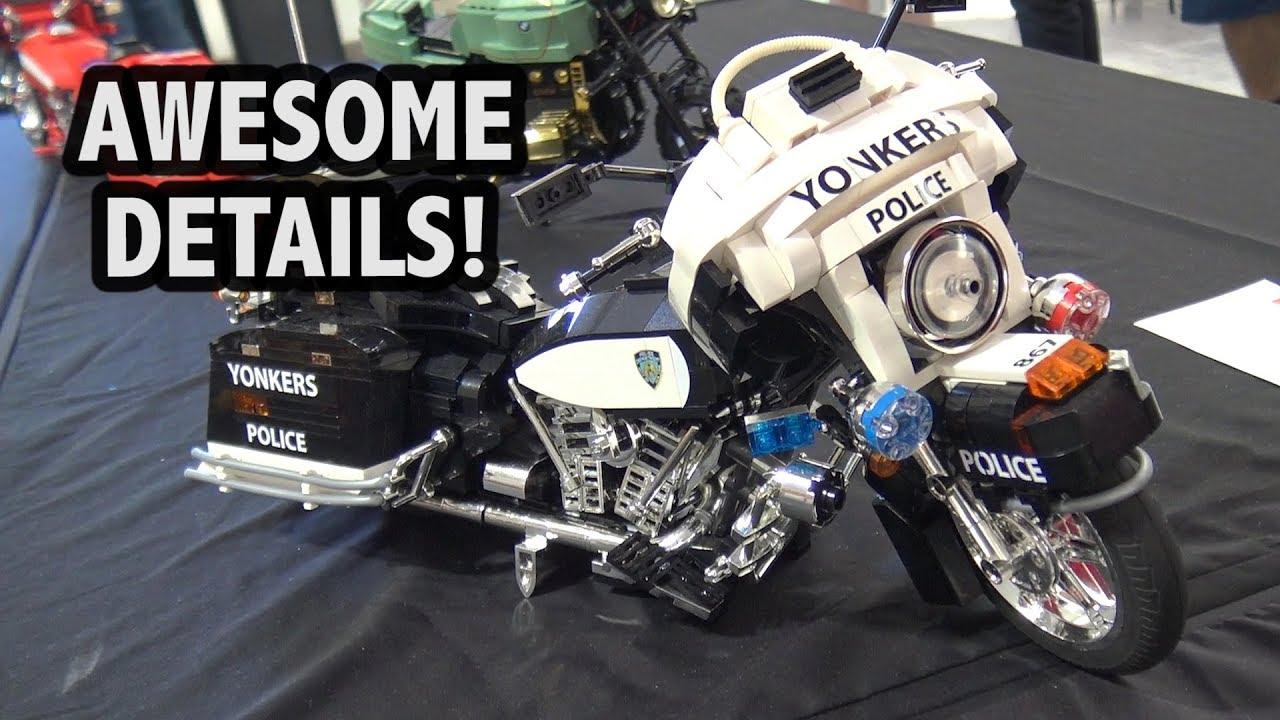 detailed lego harley davidson yonkers police motorcycle. Black Bedroom Furniture Sets. Home Design Ideas