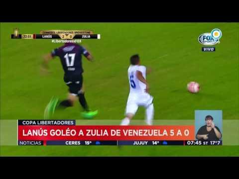 TV Pública Noticias - Copa Libertadores: Lanús goleó a Zulia de Venezuela por 5 a 0