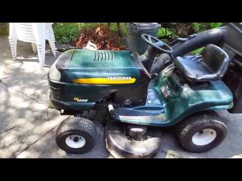Craftsman LT1000 Lawn Tractor Overview/Start/Drive