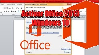 Activar Office 2013 | Solucionar ERROR DE ACTIVACION DE PRODUCTOS - Windows 10