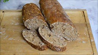 Очень простой рецепт домашнего хлеба БЕЗ ДЛИТЕЛЬНОГО ЗАМЕСА Вкусный и полезный ржаной хлебушек