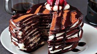 Рецепт шоколадных блинов/pancakes recipe