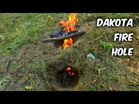 The Dakota Fire Hole - Survival Hack #49 - The Dakota Fire Hole - Survival Hack #49 - YouTube