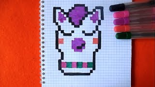 Лама Как нарисовать по клеточкам в тетради Пиксель Арт
