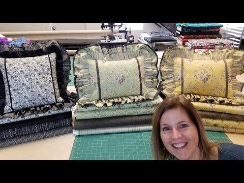 Double Ruffled Pillows!